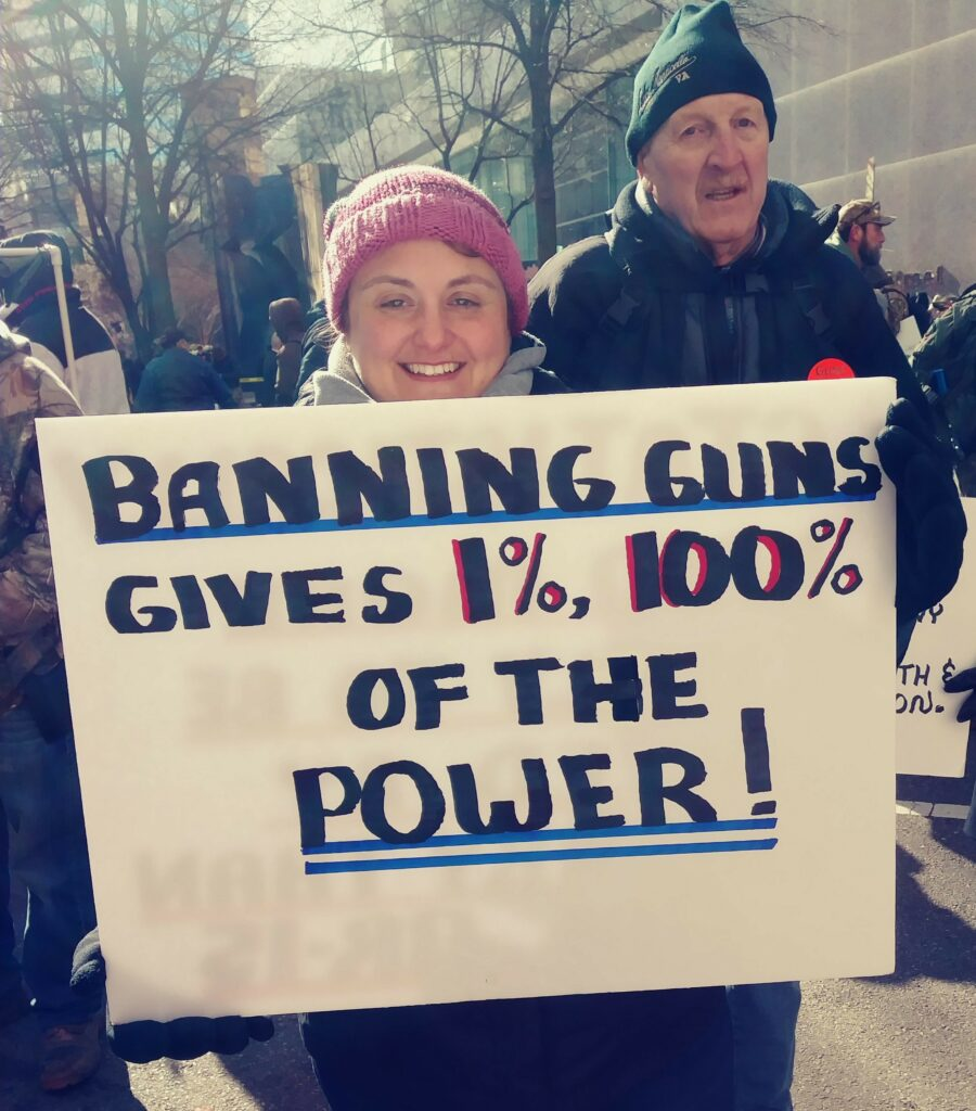 Pro-gun signs in Virginia at the January 2020 rally