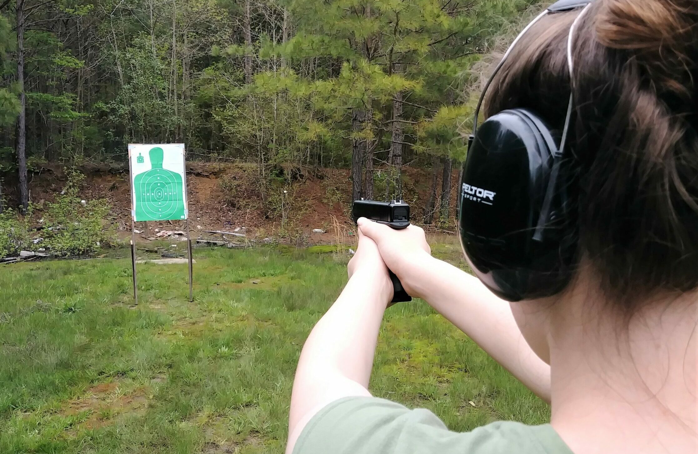 Shooting the Mozambique drill at the range