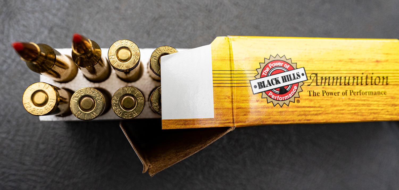22-250 ammunition from Black Hills