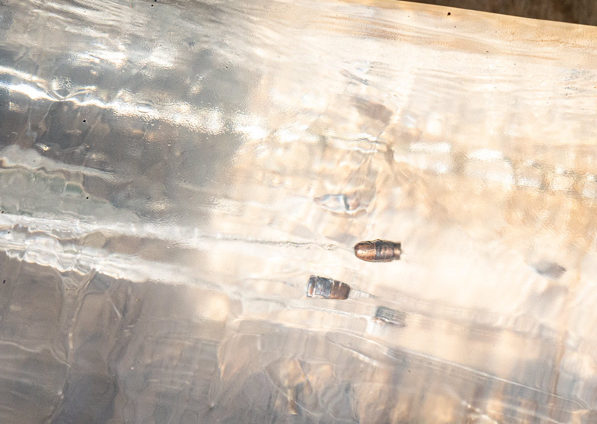 bullets into gelatin from above show that 22lr is not good for home defense