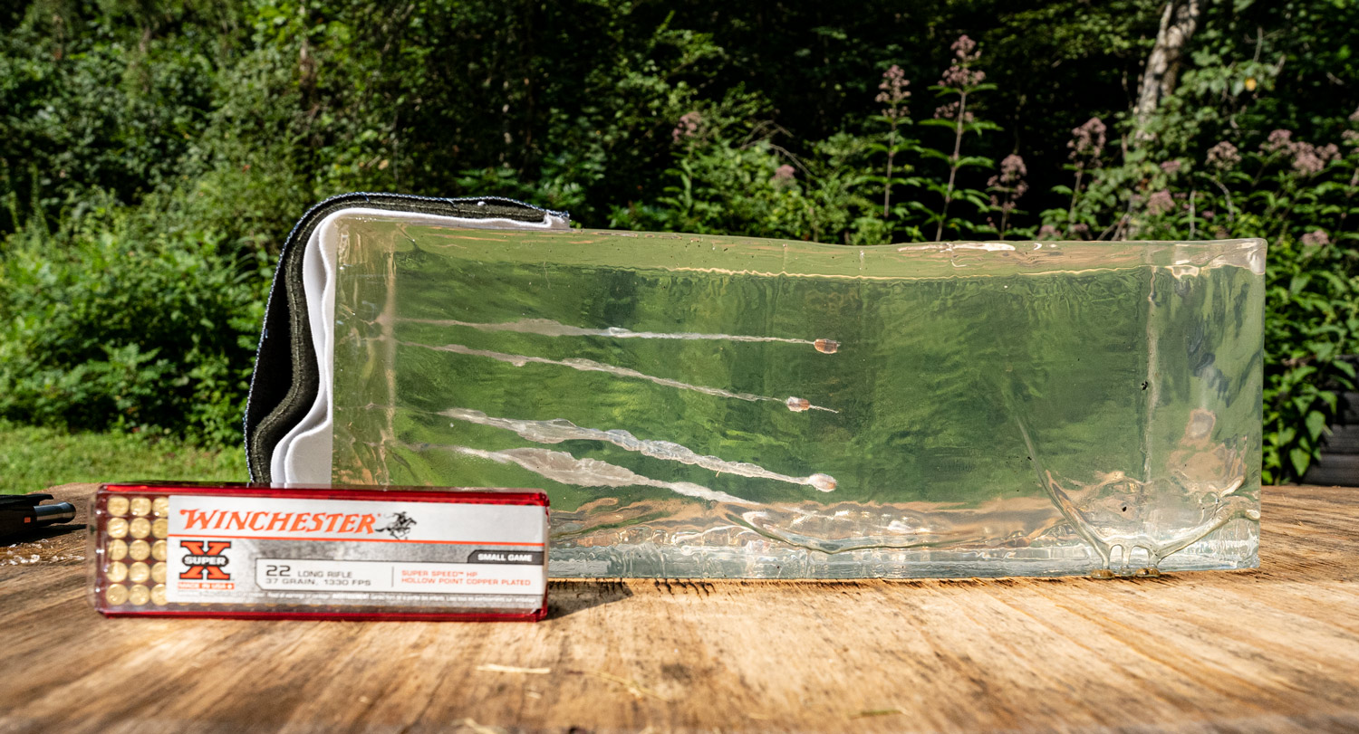 Winchester Super-X into ballistic gelatin to see if it's a good self-defense option