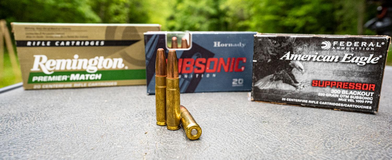 300 Blackout ammunition at the shooting range