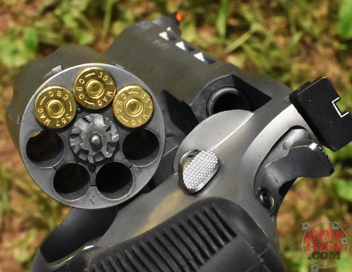 revolver loaded with 357 magnum ammo