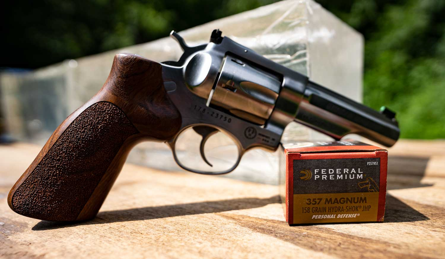 357 magnum revolver with ammunition