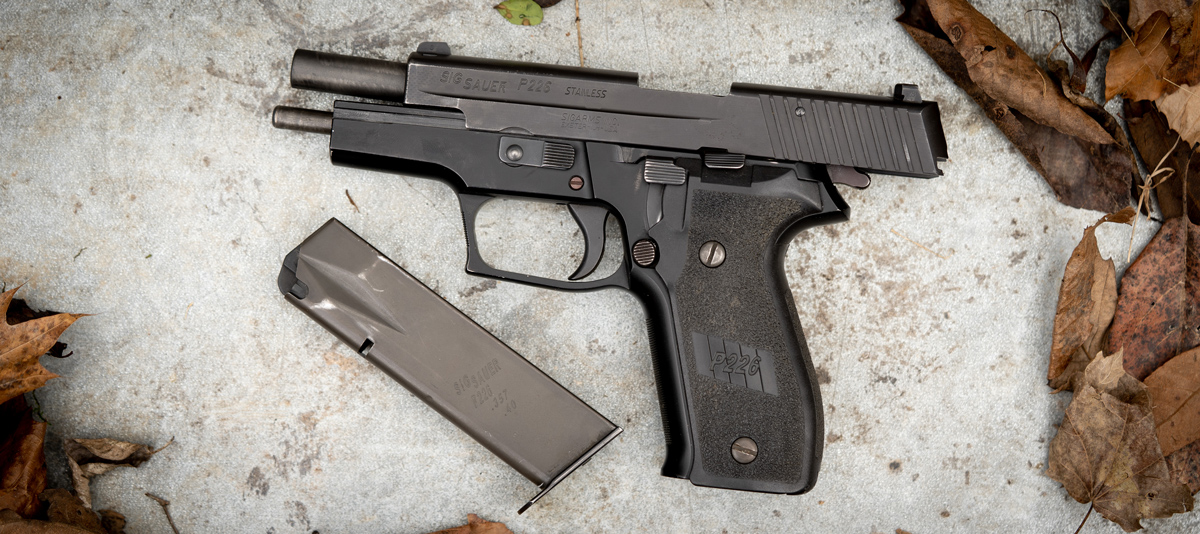 pistol chambered for 357 sig ammo