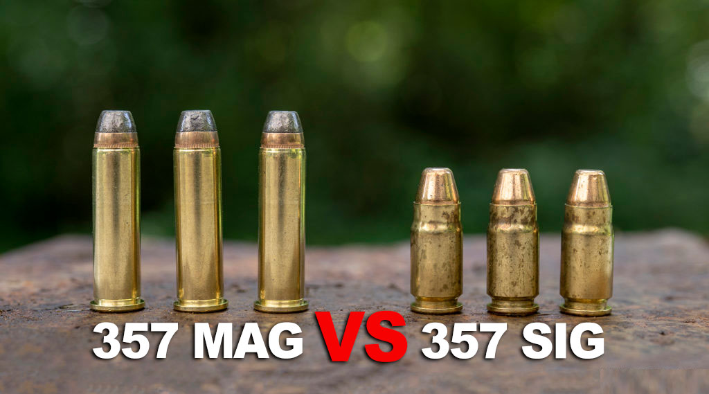 357 sig and 357 magnum ammo on a table
