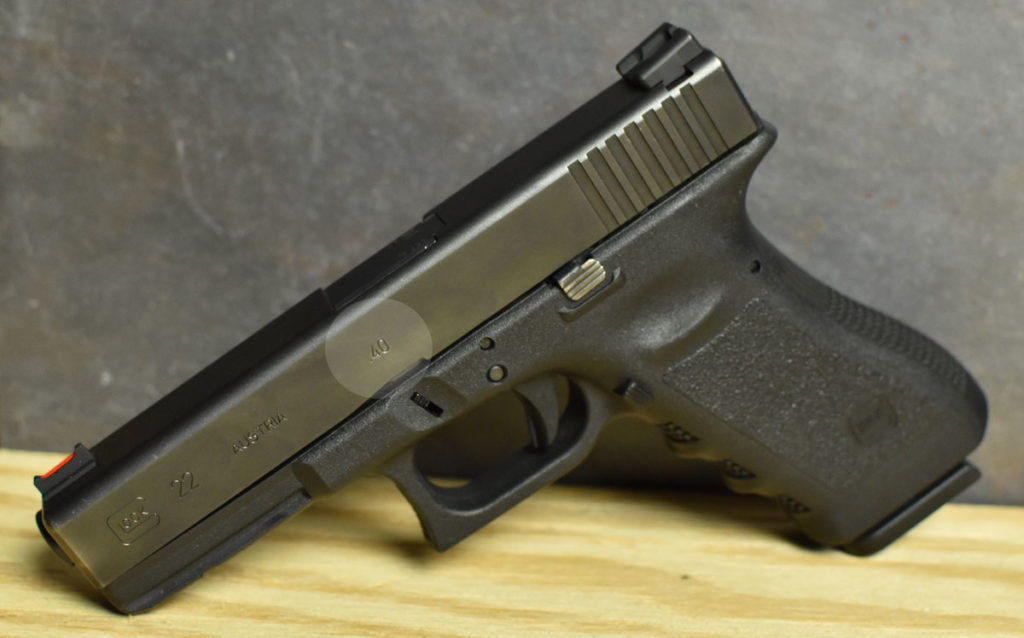 A 40 cal glock pistol clearly marked on the barrel