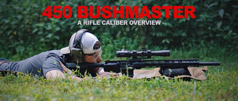 Shooting 450 Bushmaster at the range
