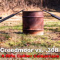 6.5 creedmoor vs .308 rifles at the range