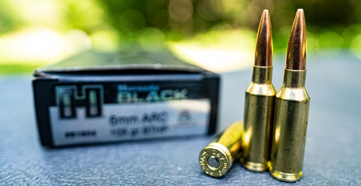 Hornady Black 6mm ARC ammo at the shooting range