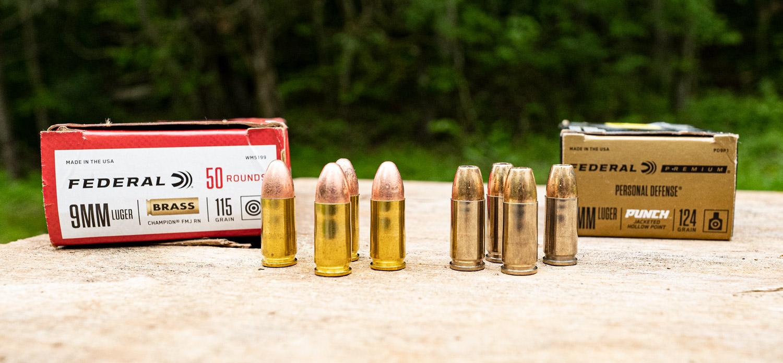 115 grain vs 124 9mm ammo