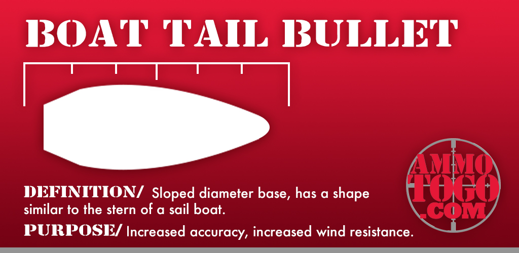 Boat tail bullet graphic