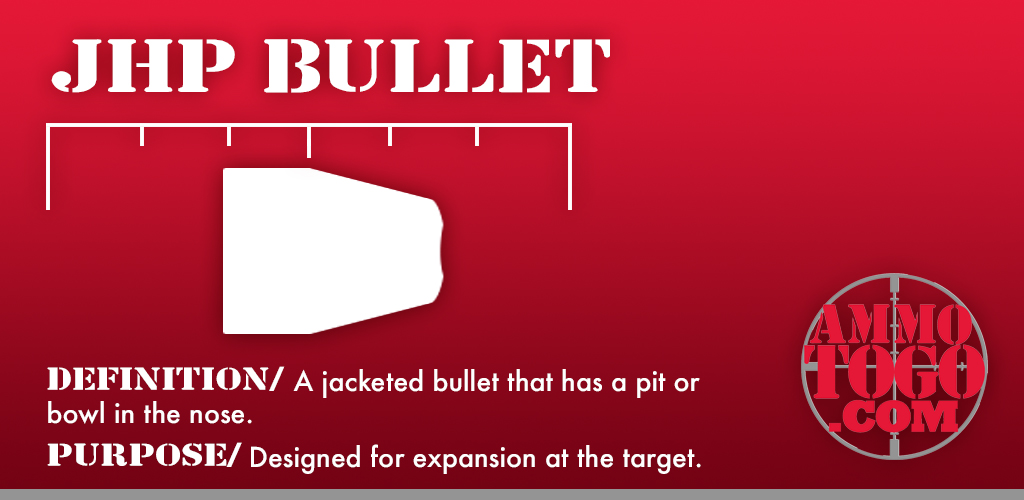 Graphic detailing what a jacketed hollow point bullet is