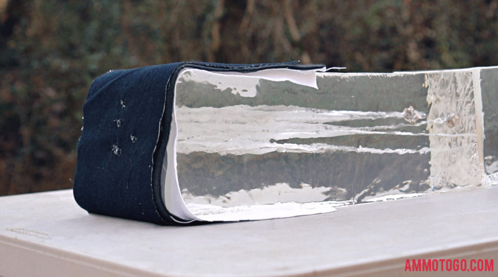 Ballistic Gel Block Shot With Hollow Point Ammo