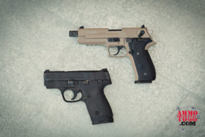 Double action striker fired and hammer fired handguns