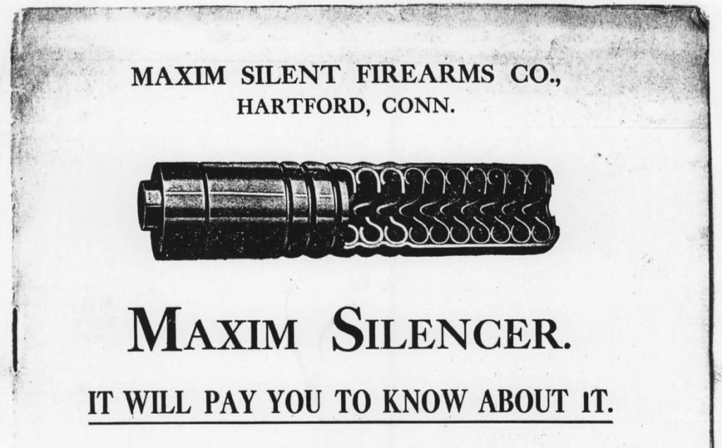 Vintage Maxim Silencer advertisement