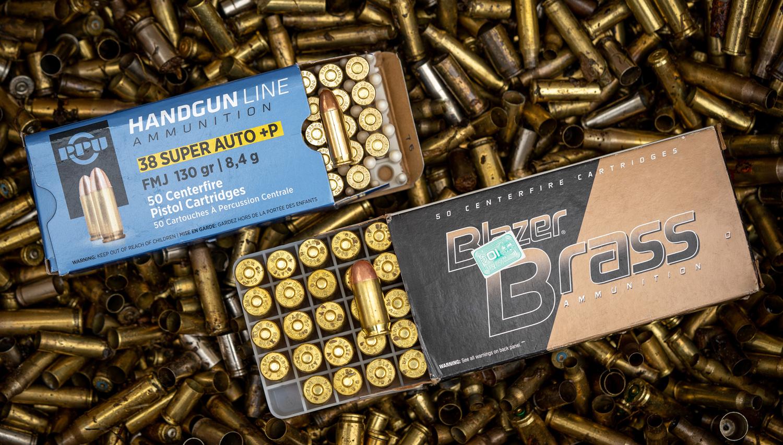 38 super vs 45 acp boxes of ammo