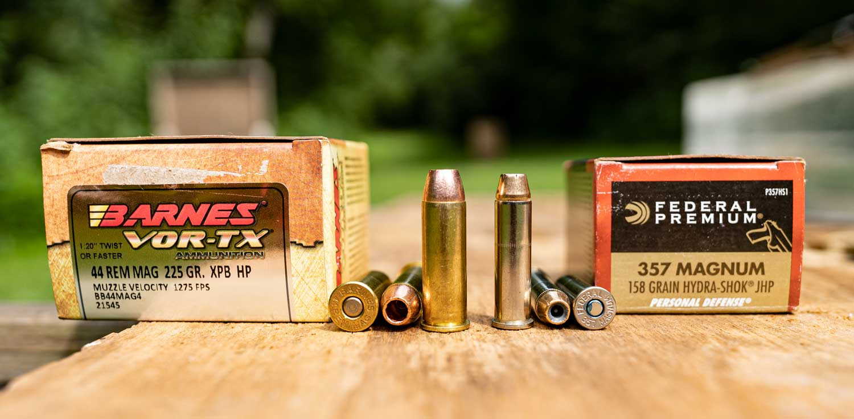 357 magnum vs 44 magnum ammo side by side