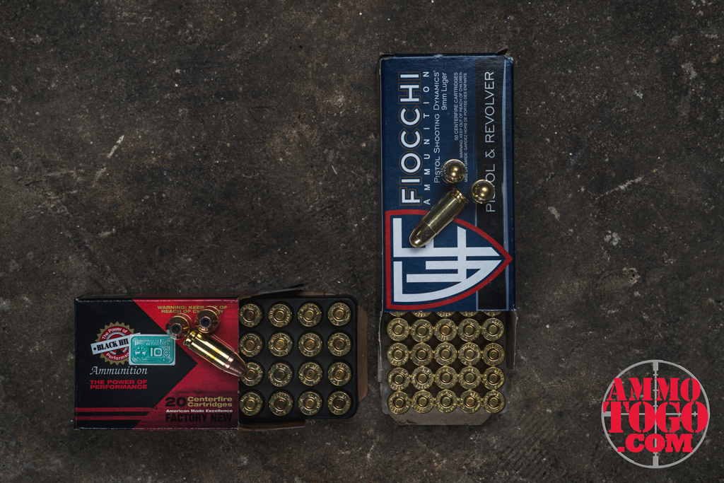 Fiocchi and Black Hills jacketed hollow point ammo
