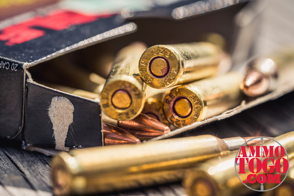photo of wolf gold 223 ammo outside