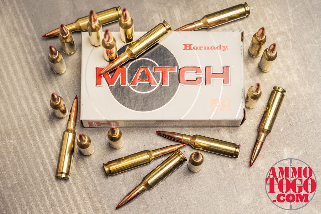a photo of hornady match 6.5 creedmoor rifle ammo