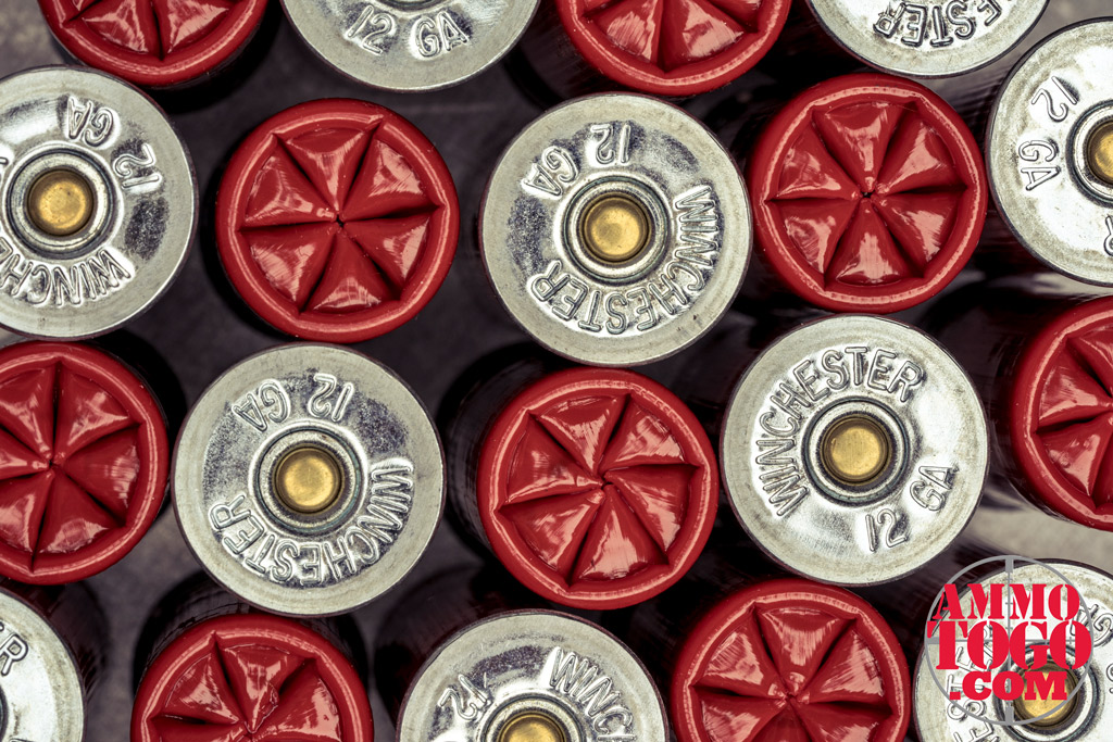 Folded 12 gauge shotgun shells