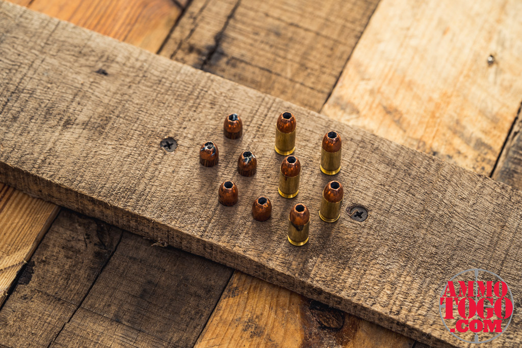 photo of remmington 380 bullets on a wooden pallet