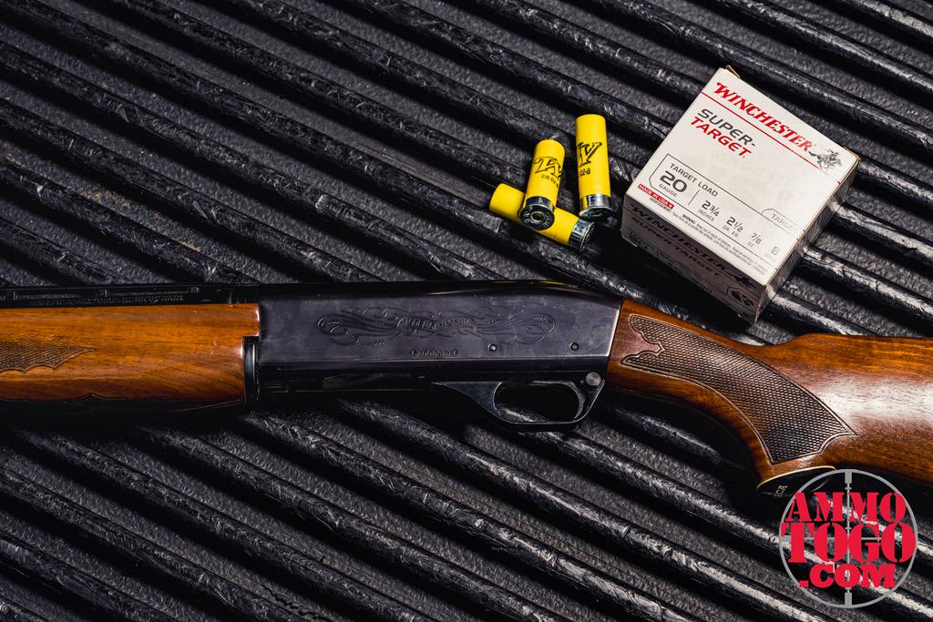 photo of 20 gauge shotgun and shotgun shells