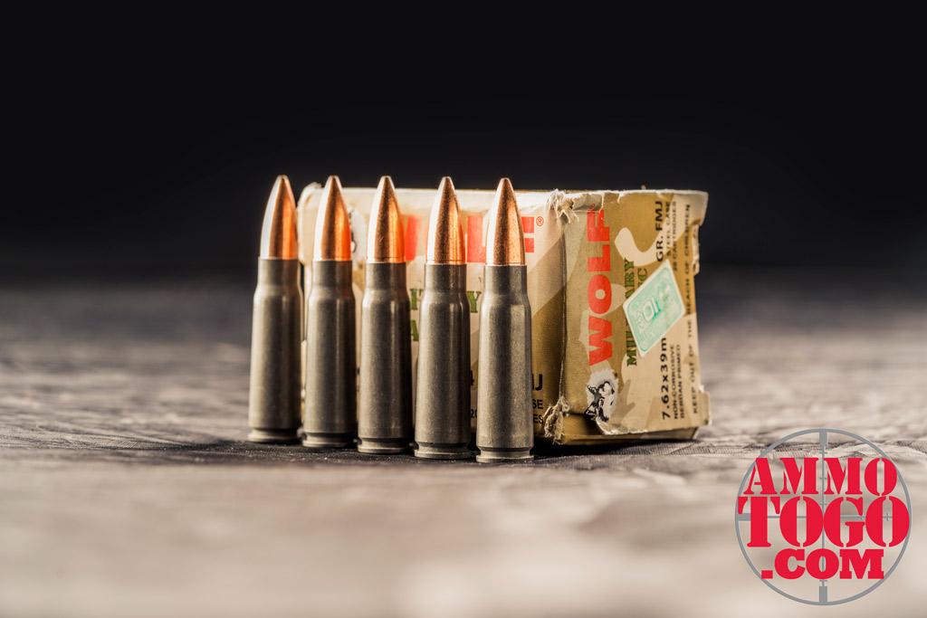 photo of wolf 7.62x39 ammunition
