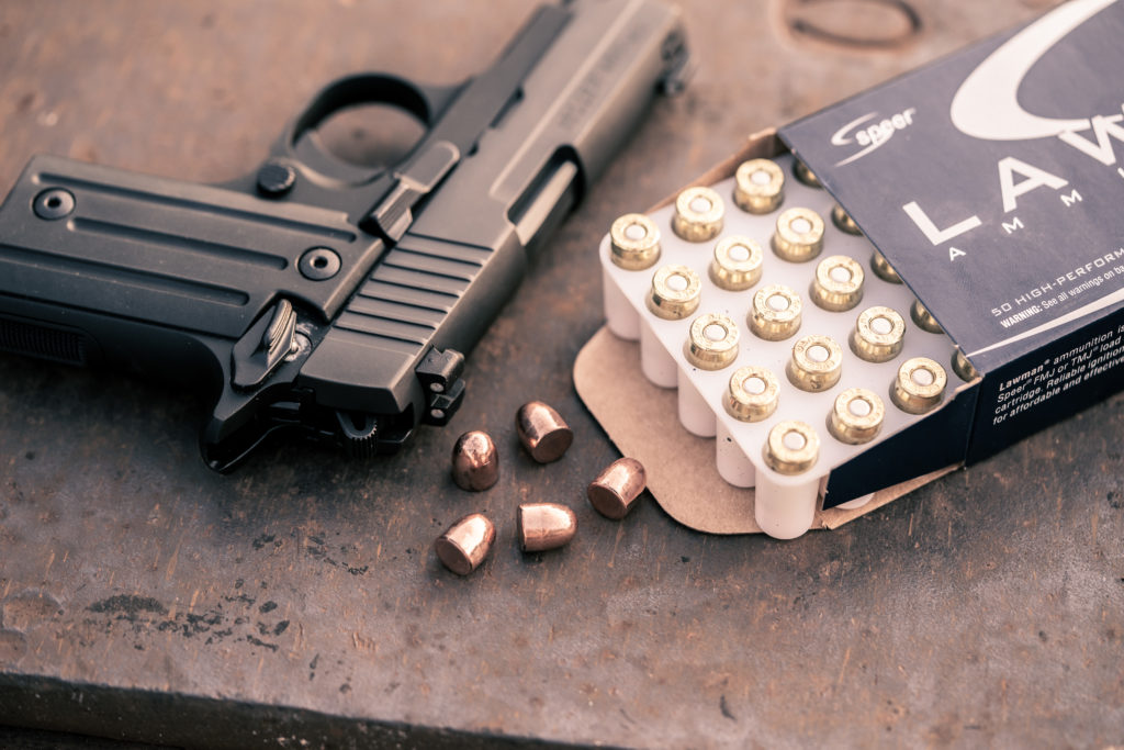 TMJ bullets made by speer on a table