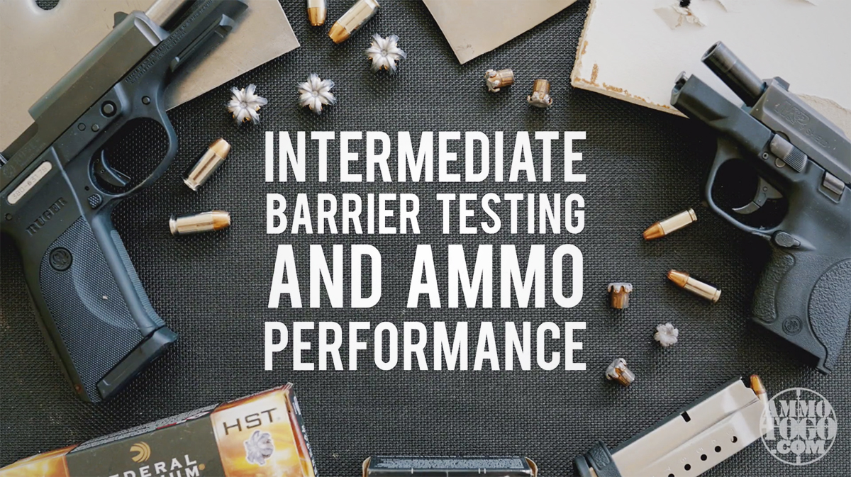 Ammo testing with barriers