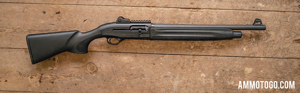 Beretta semiautomatic shotgun on a table