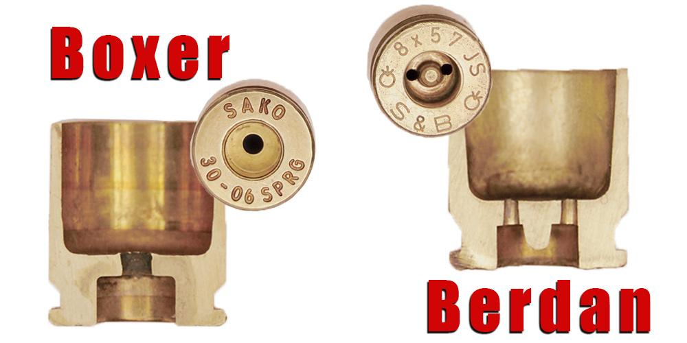 Boxer vs. Berdan Primer comparison