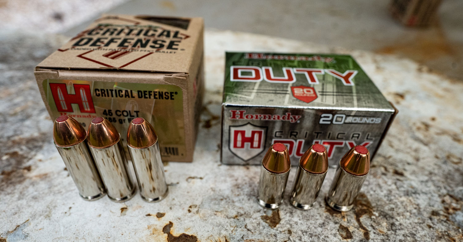 Critical Defense and Critical duty ammo side-by-side