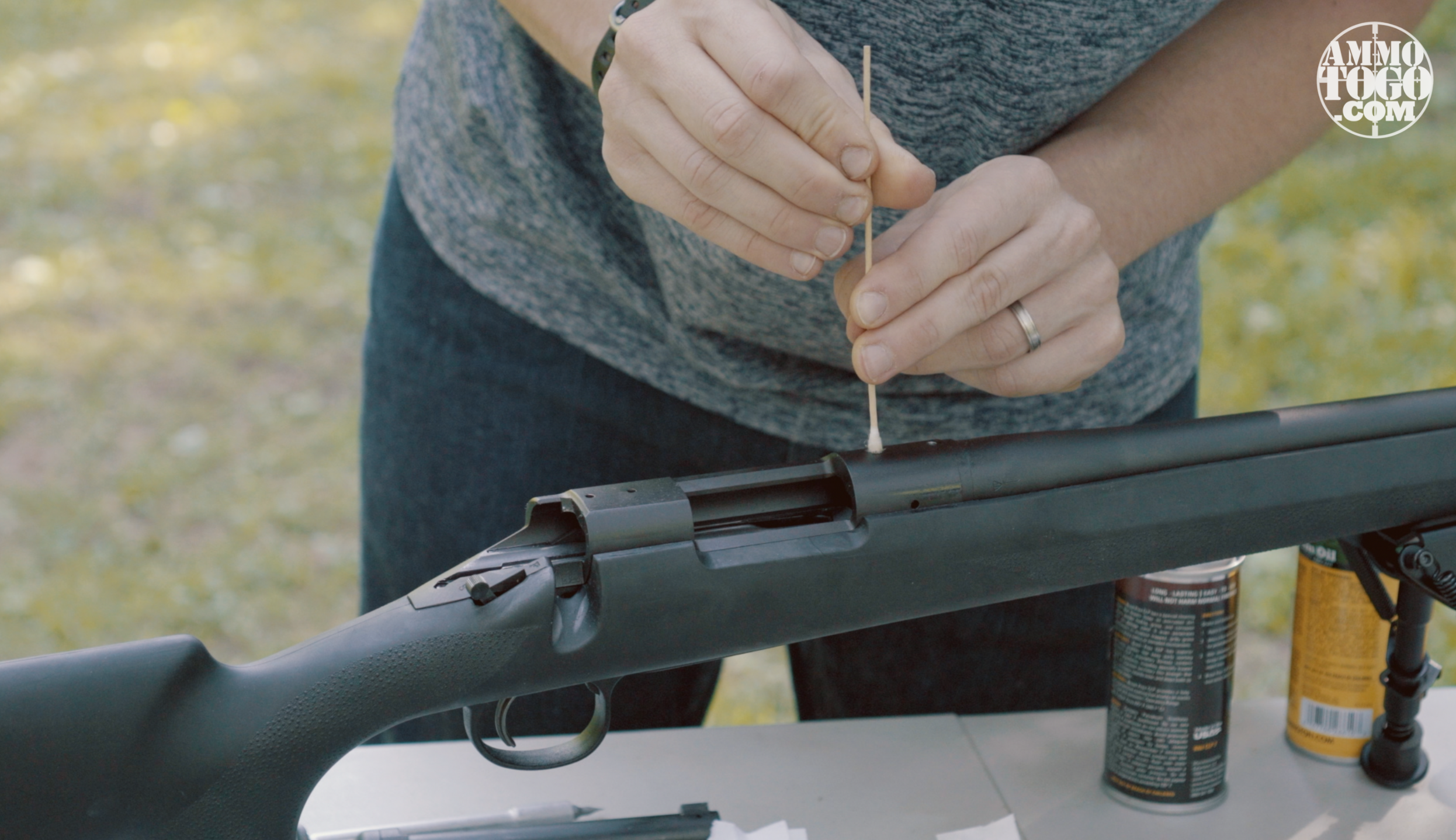 Removing Dirt and Grease From Rifle Receiver