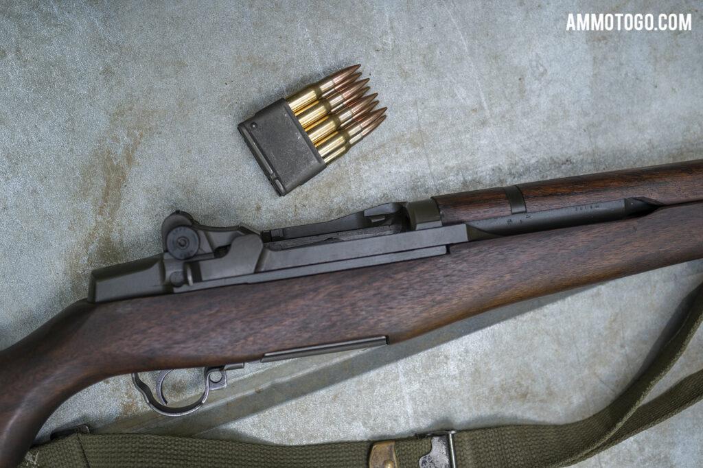 30-06 Ammunition Clip and a M1 Garand rifle