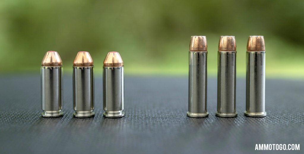 comparison of 10mm ammunition and 357 mag ammo
