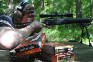 Firing match grade ammo at the range
