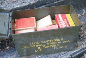 old ammo can loaded up