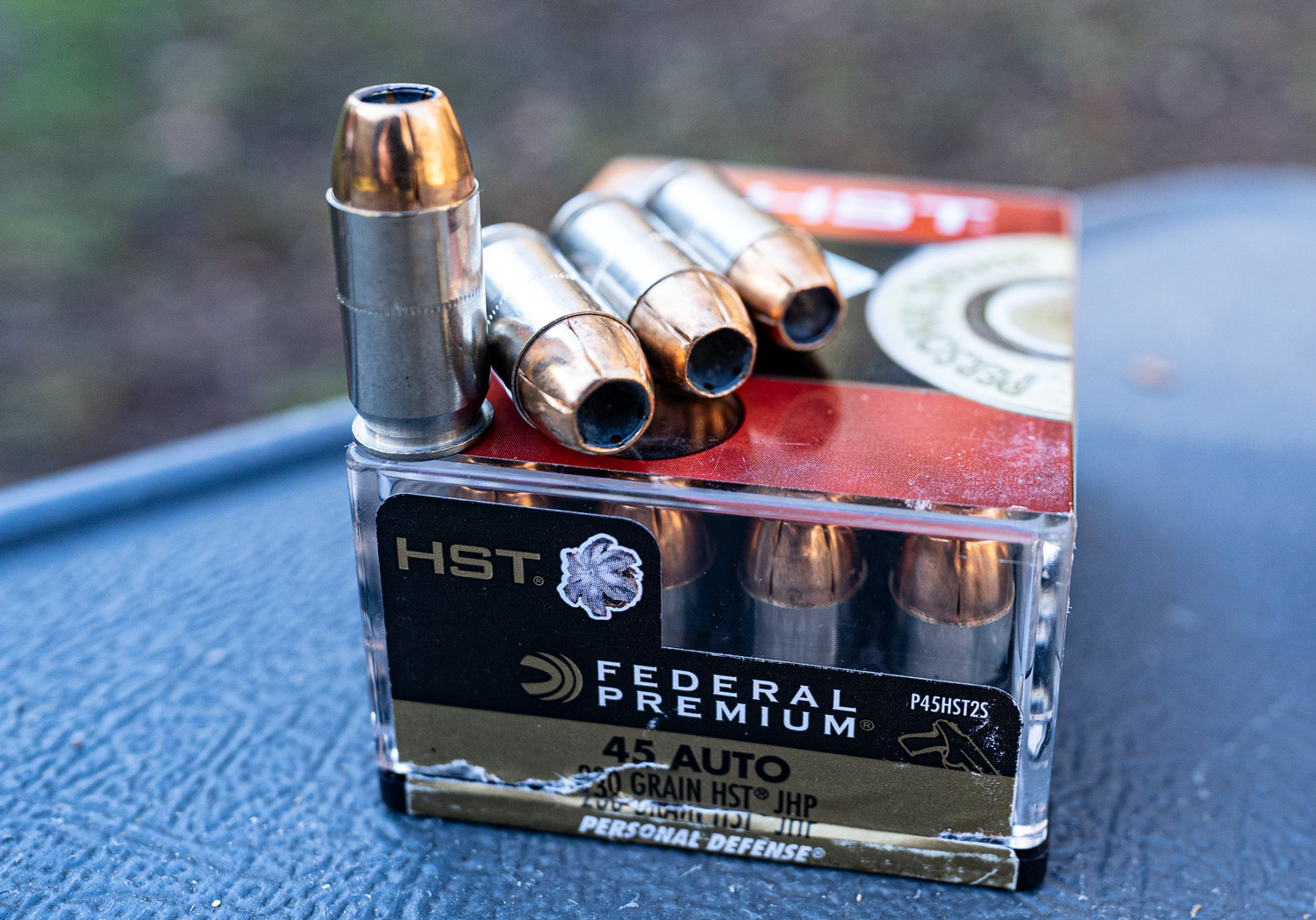 Federal 45 ACP hollow point ammunition