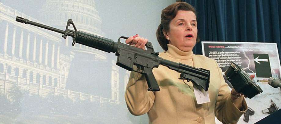 diane feinstein in 1994 outlining the original assault weapons ban