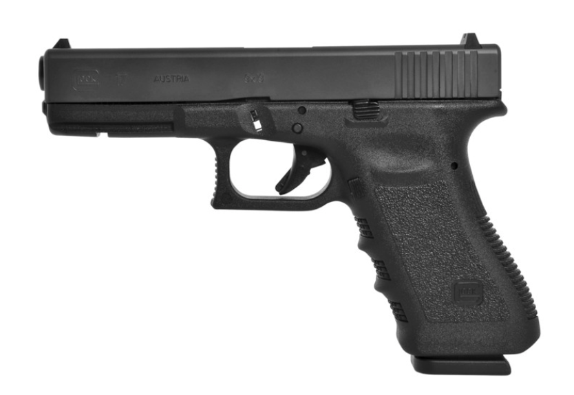 The Glock 17 pistol