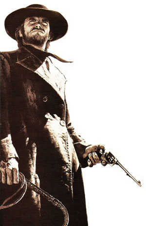 clint eastwood revolver in high plains drifter