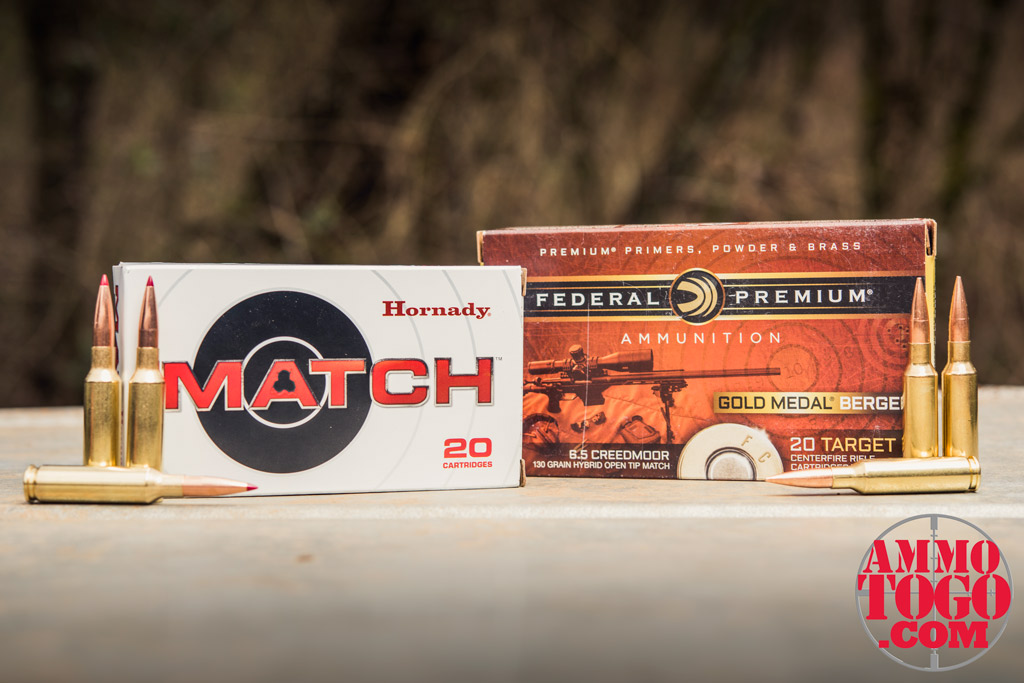 photo of hornady and federal 6.5 creedmoor ammunition outdoors