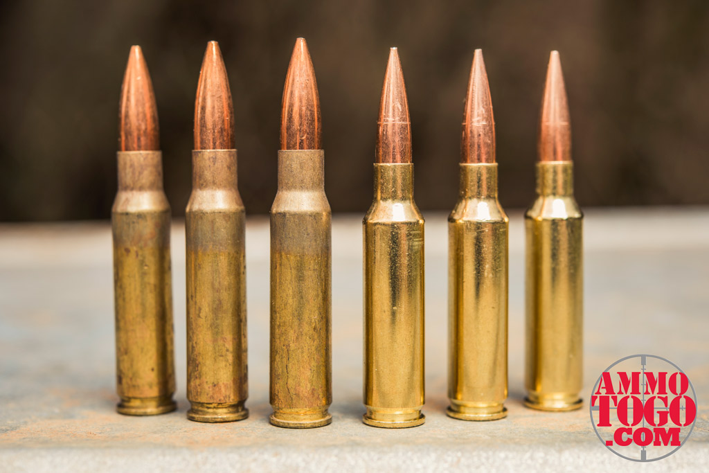 photo of Federal .308 ammunition next to Federal 6.5 Creedmoor ammunition outdoors
