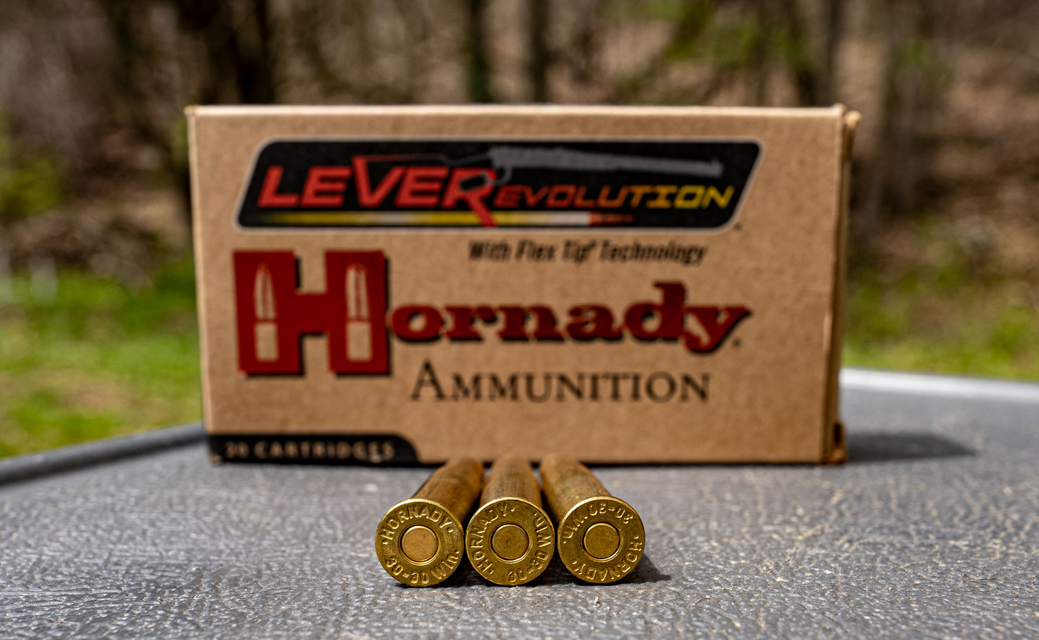 LeveRevolution ammo on a table with box