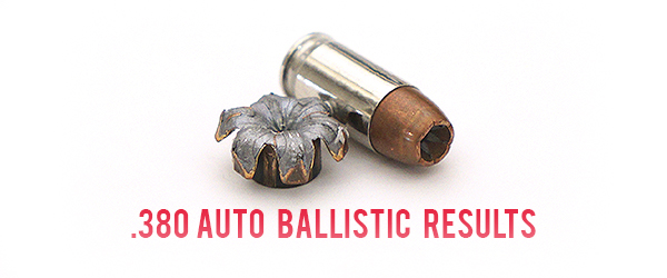 380 Auto Ballistic Test Results
