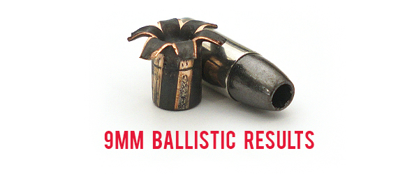 9mm ammunition Ballistic Test Results