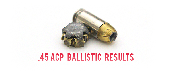 45ACP Ballistic Test Results