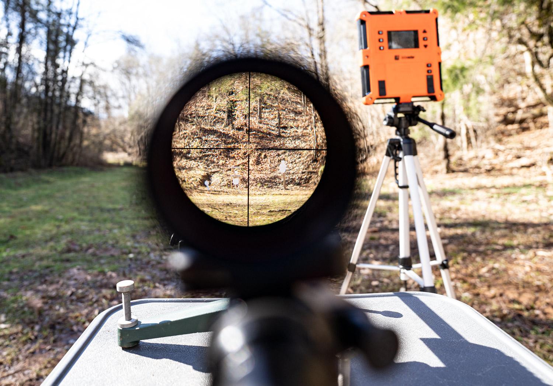 Looking downrange through a scope